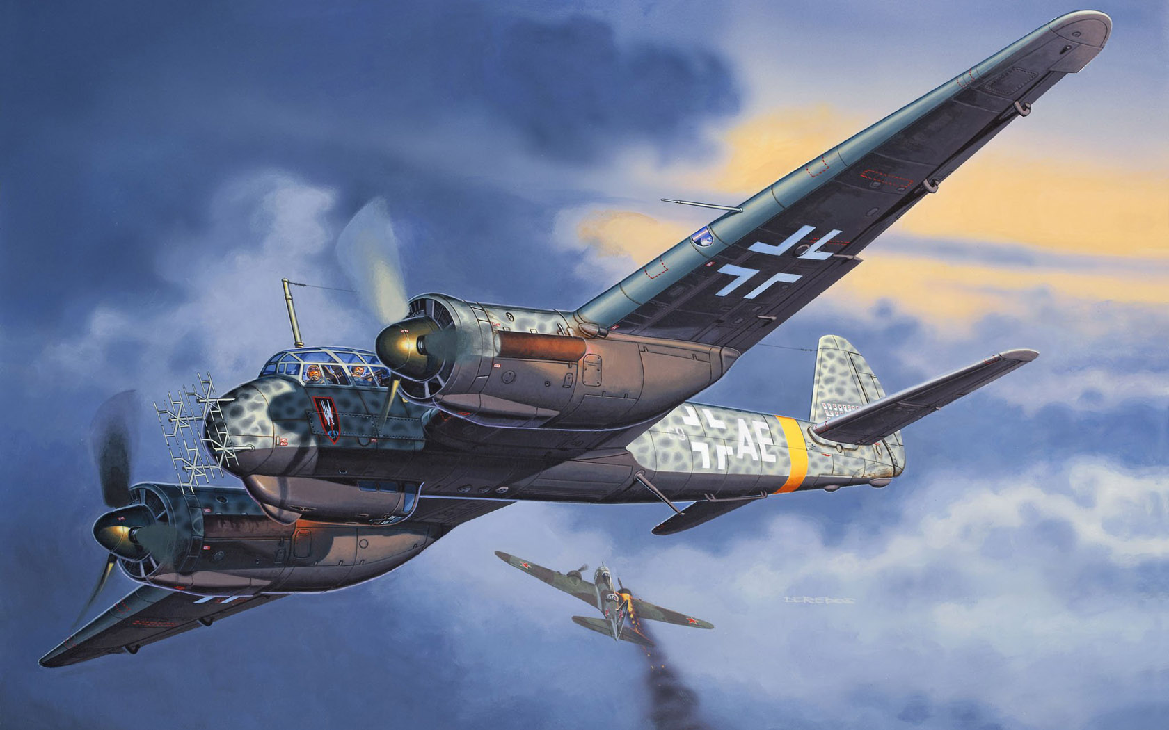 рисунок Ju-88 C-6