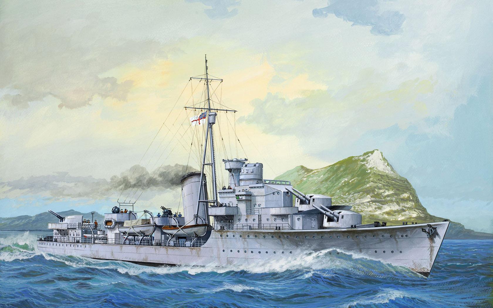 рисунок HMS Kelly