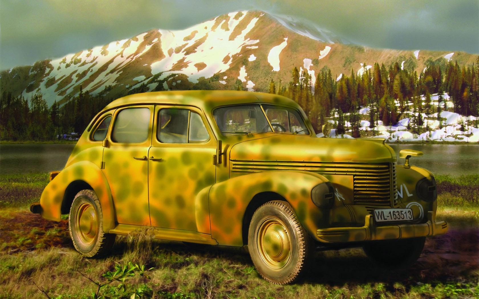 рисунок German Opel Kapitan Saloon