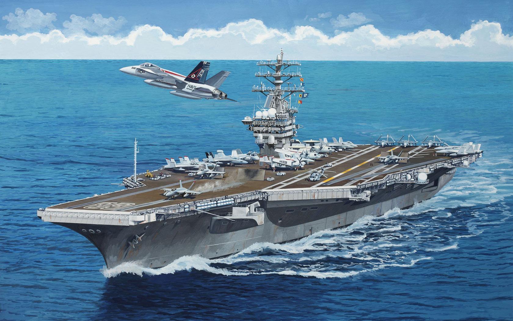 рисунок авианосец Nimitz
