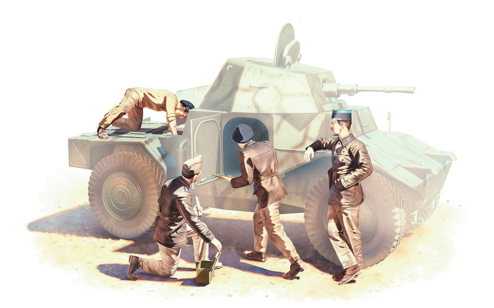 рисунок French Armoured Vehicle Crew