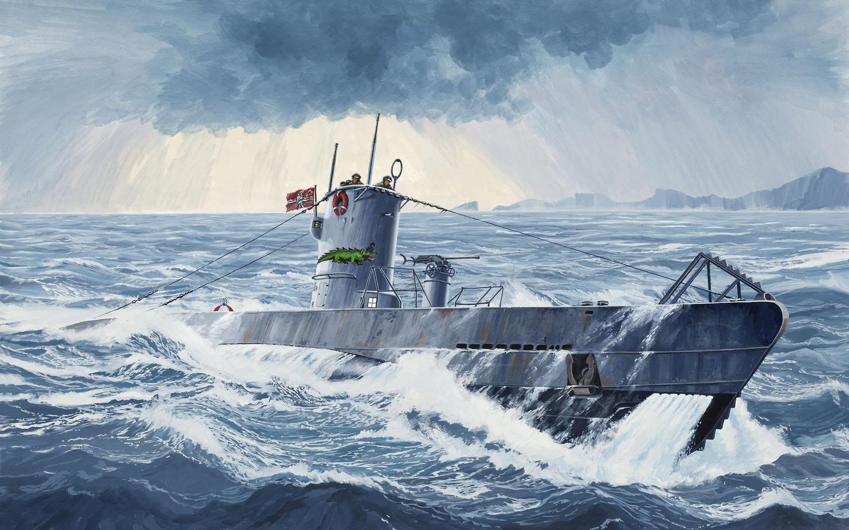 рисунок German Submarine Type IIB