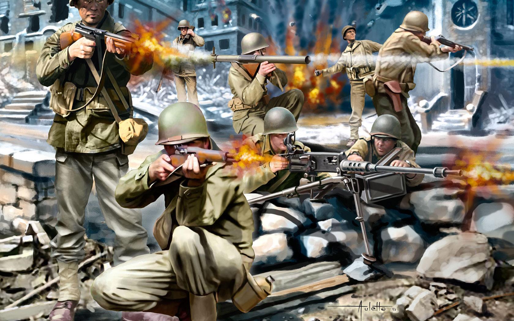 рисунок American Infantry WWII