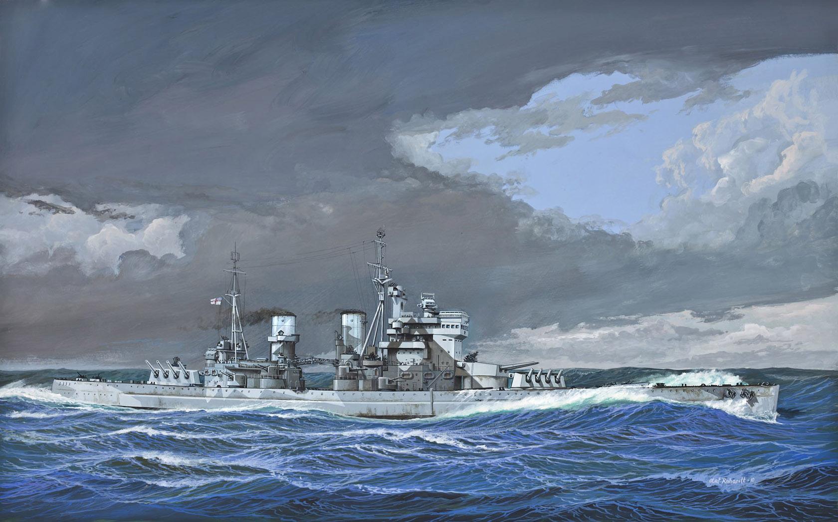 рисунок British Battleship H.M.S. Duke of York