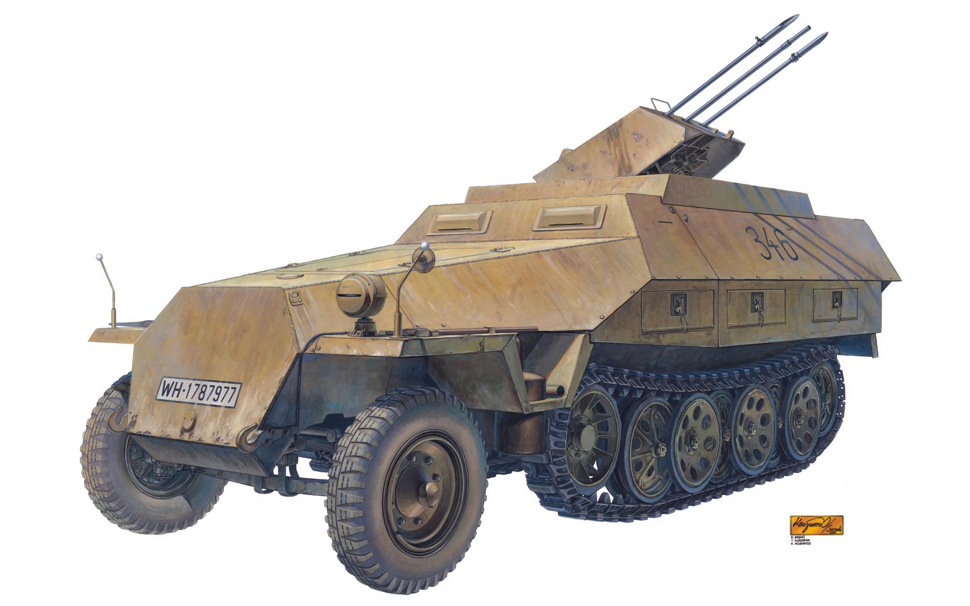 рисунок Sd.Kfz.251/21 Ausf.D Drilling