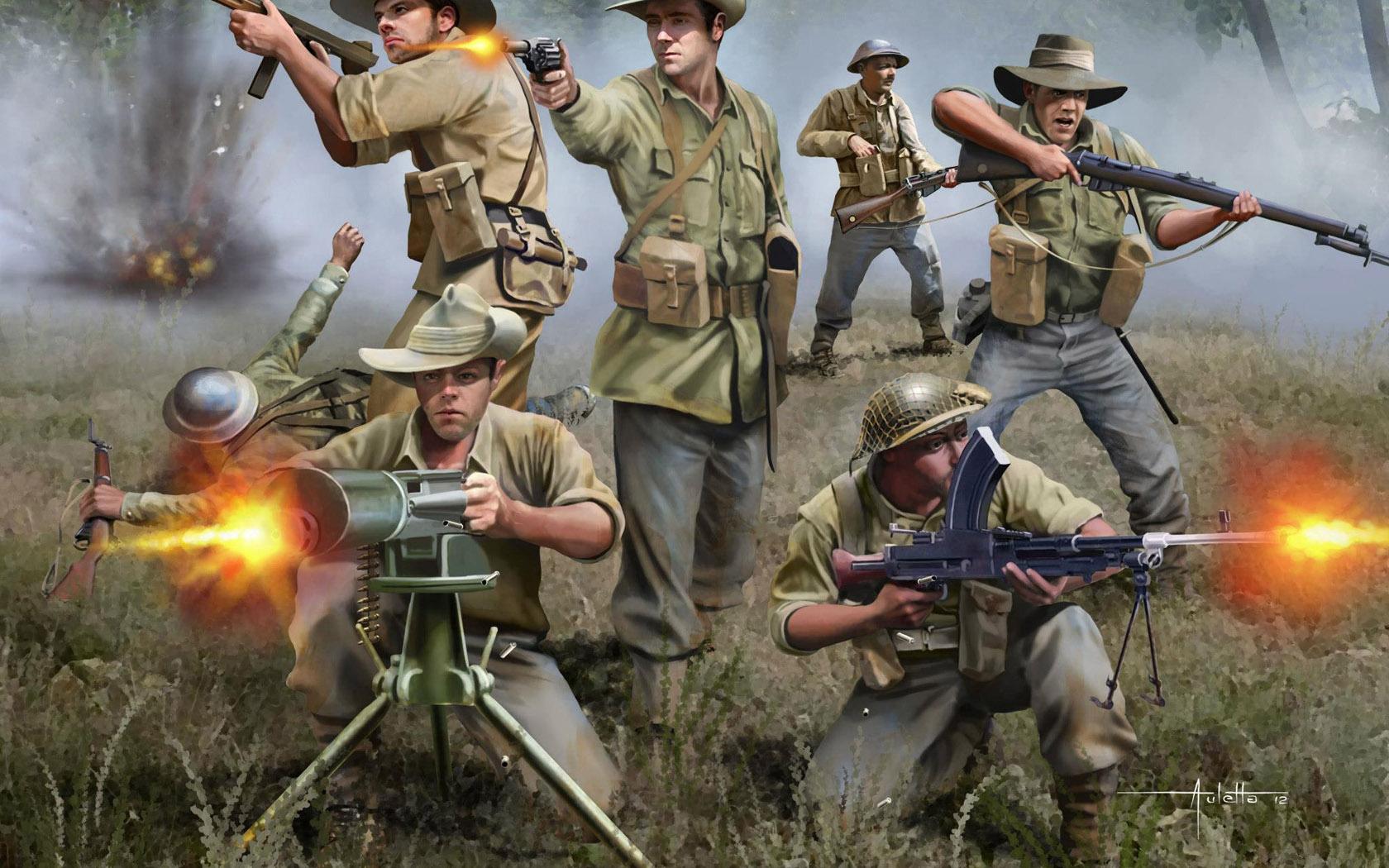 рисунок австралийская пехота