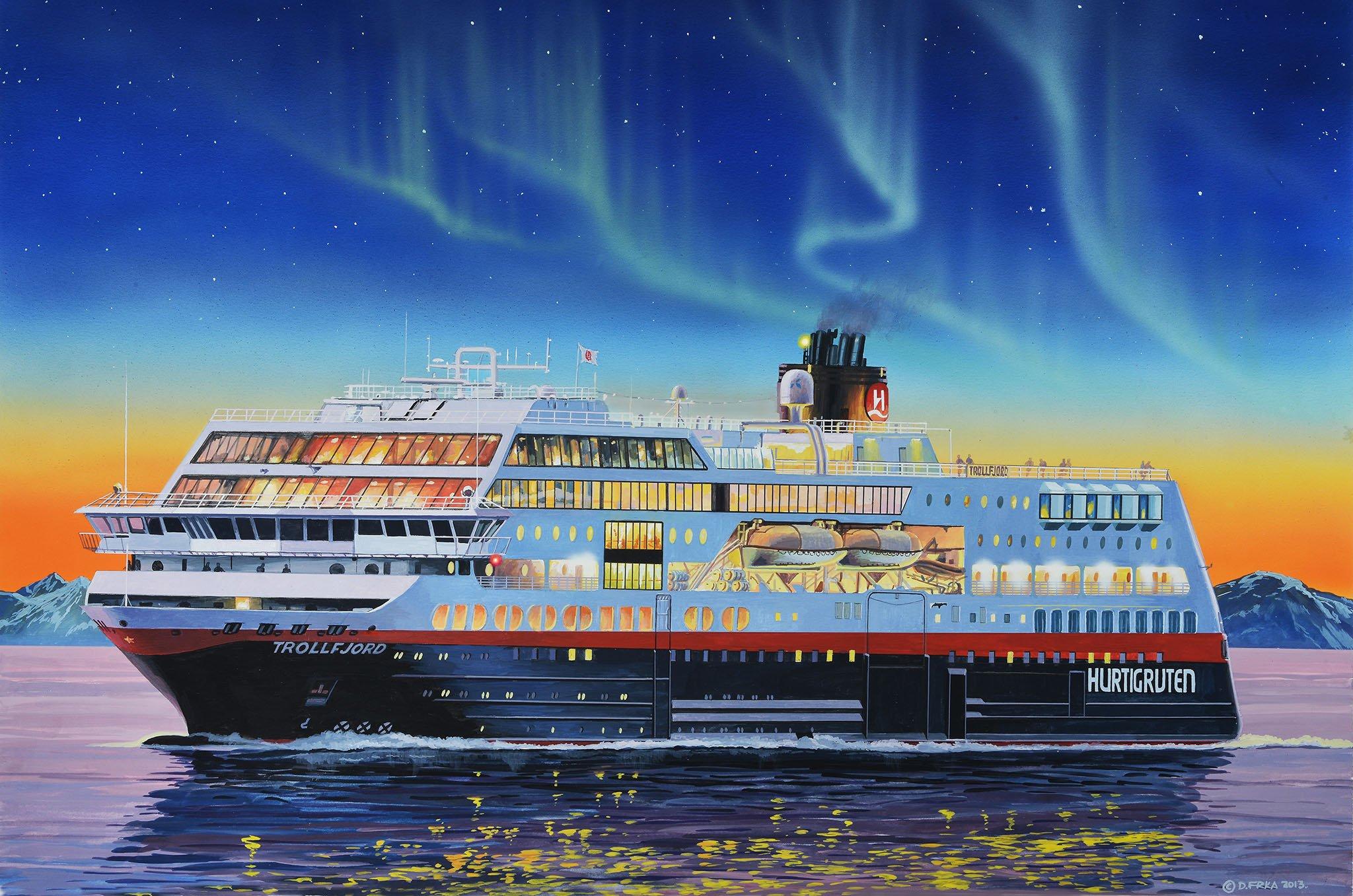 рисунок MS Trollfjord