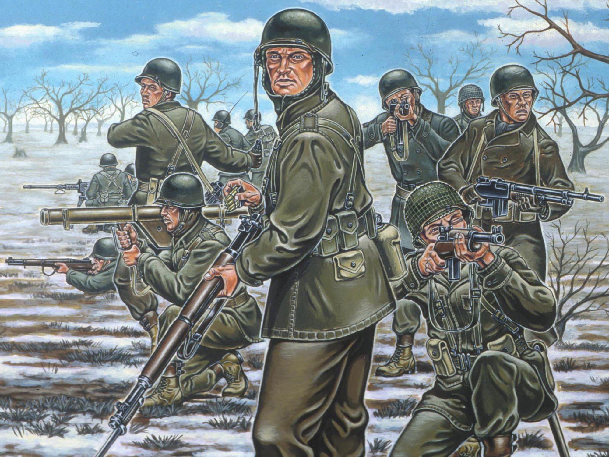 рисунок US Infanterie WWII