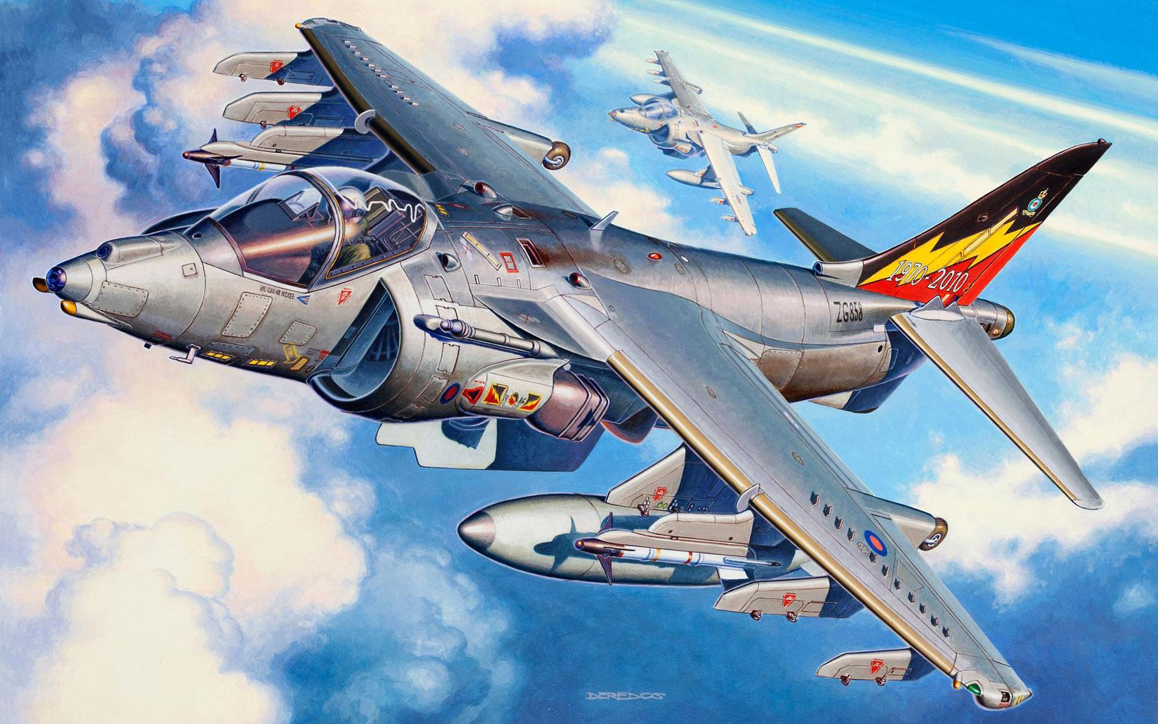 рисунок BAe Harrier