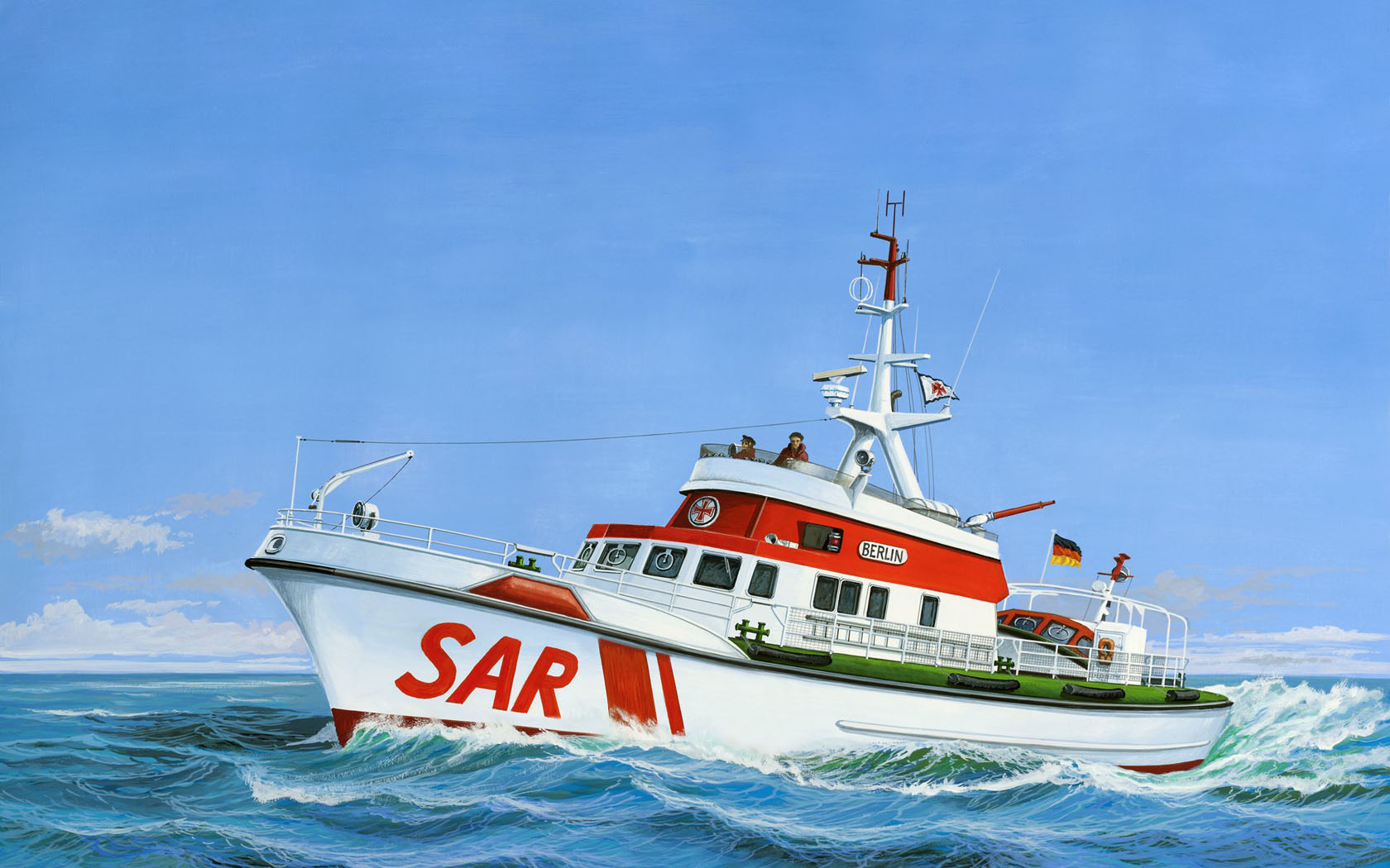 рисунок Seenotkreuzer Berlin