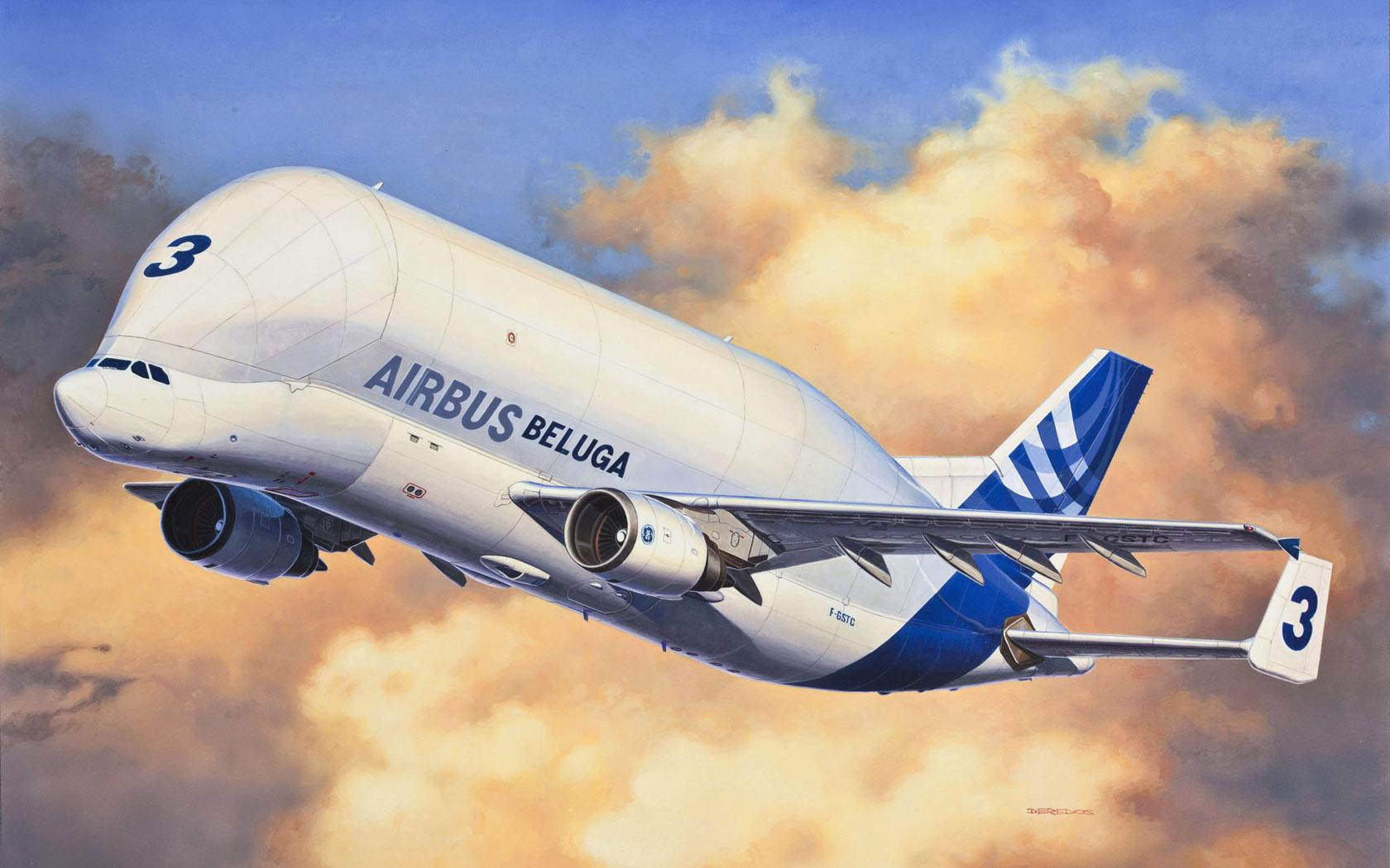 рисунок Airbus Beluga