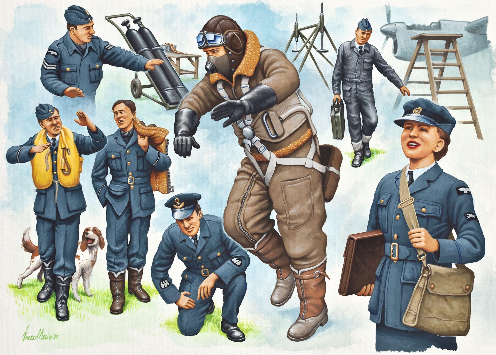 рисунок Pilots and Ground Crew Royal Air Force
