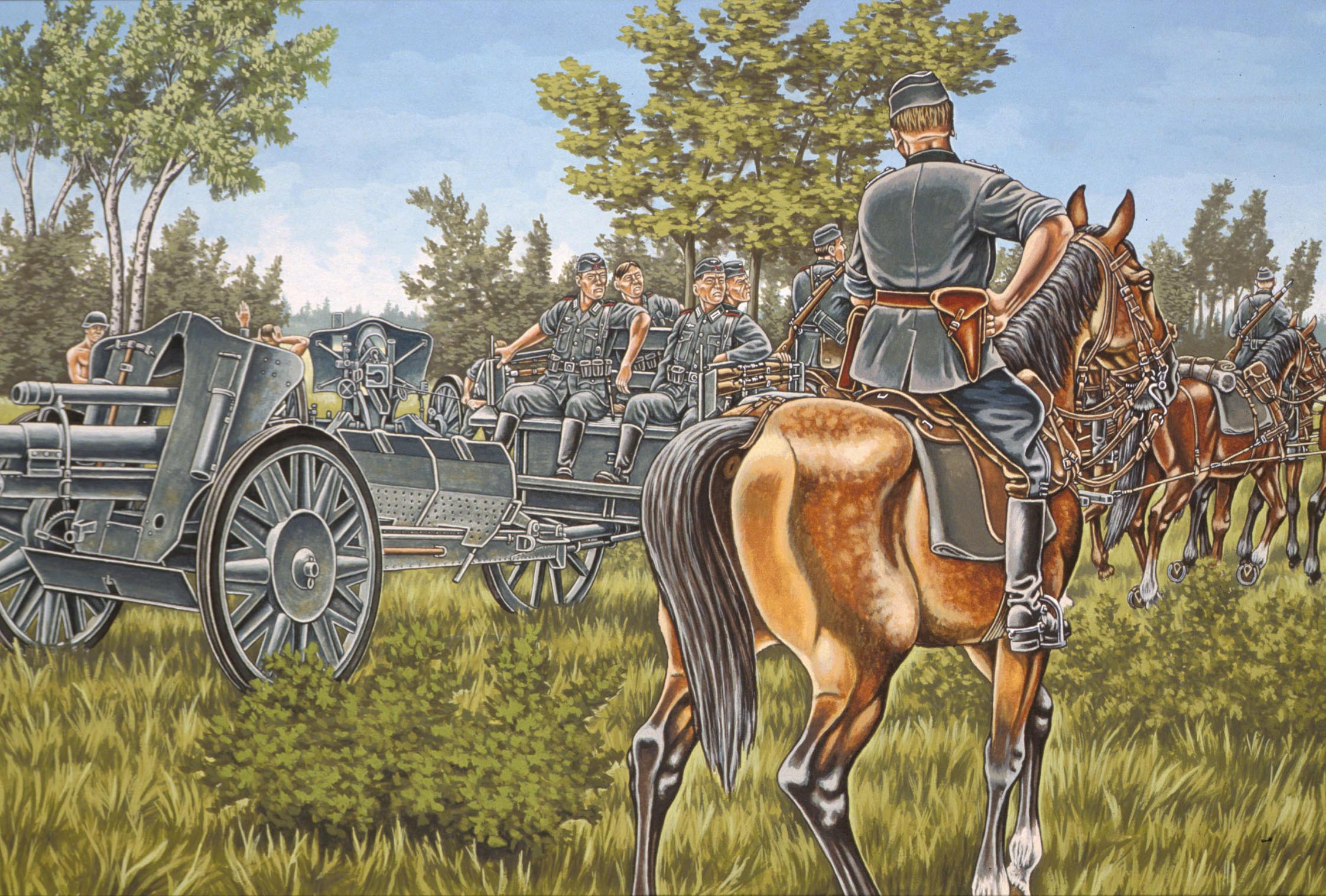 рисунок Deutsche Artillerie WWII