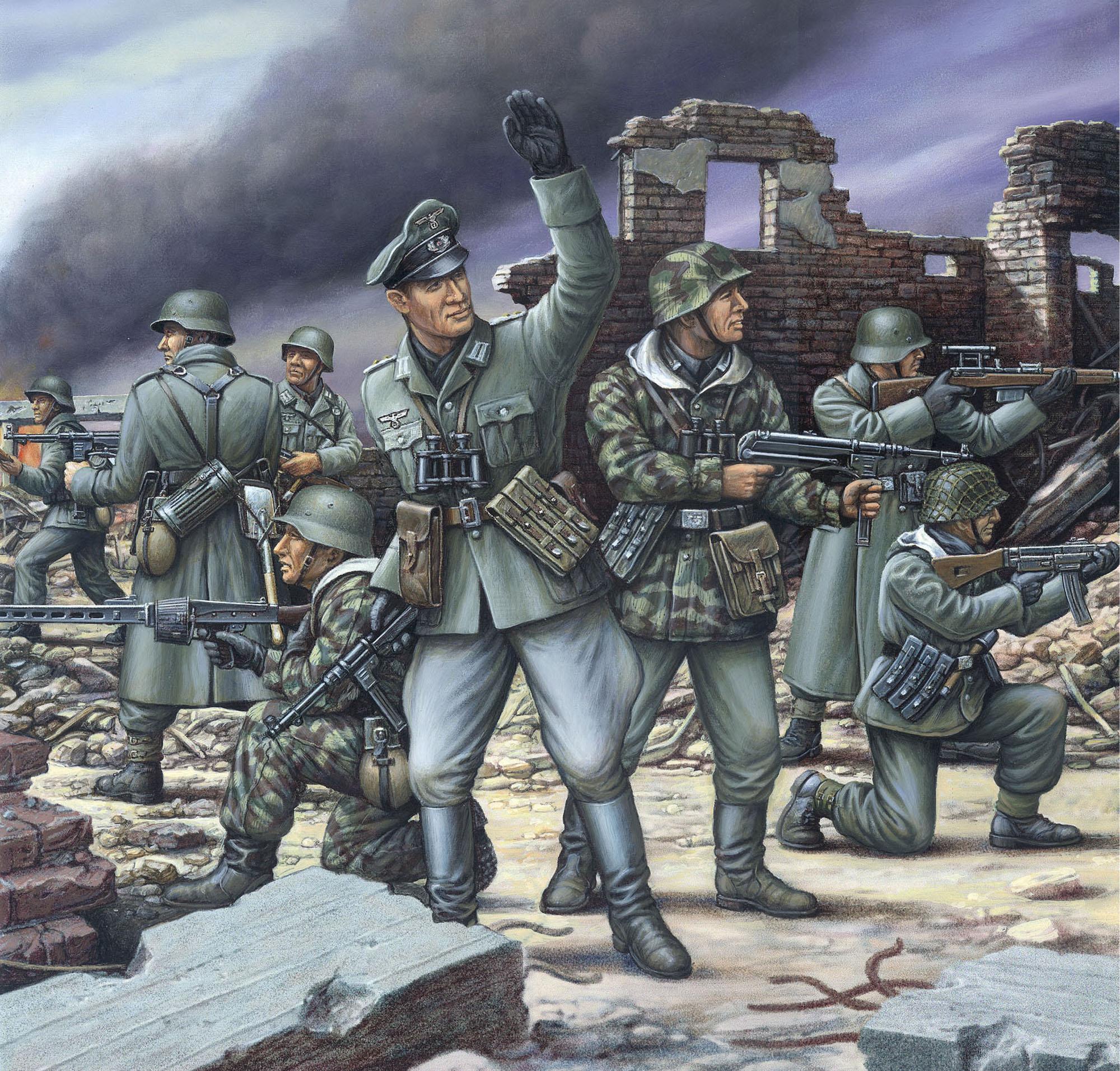 рисунок Deutsche Panzergrenadiere
