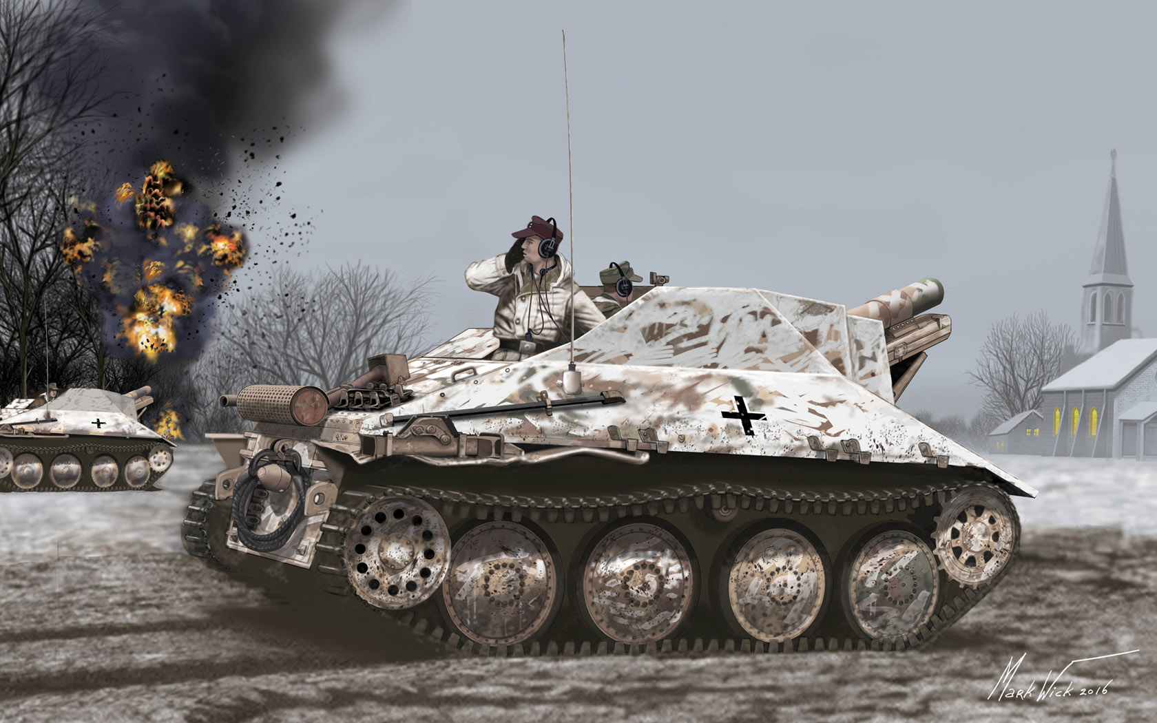 рисунок 15cm s.IG.33/2(Sf) auf Jagdpanzer 38(t) Hetzer