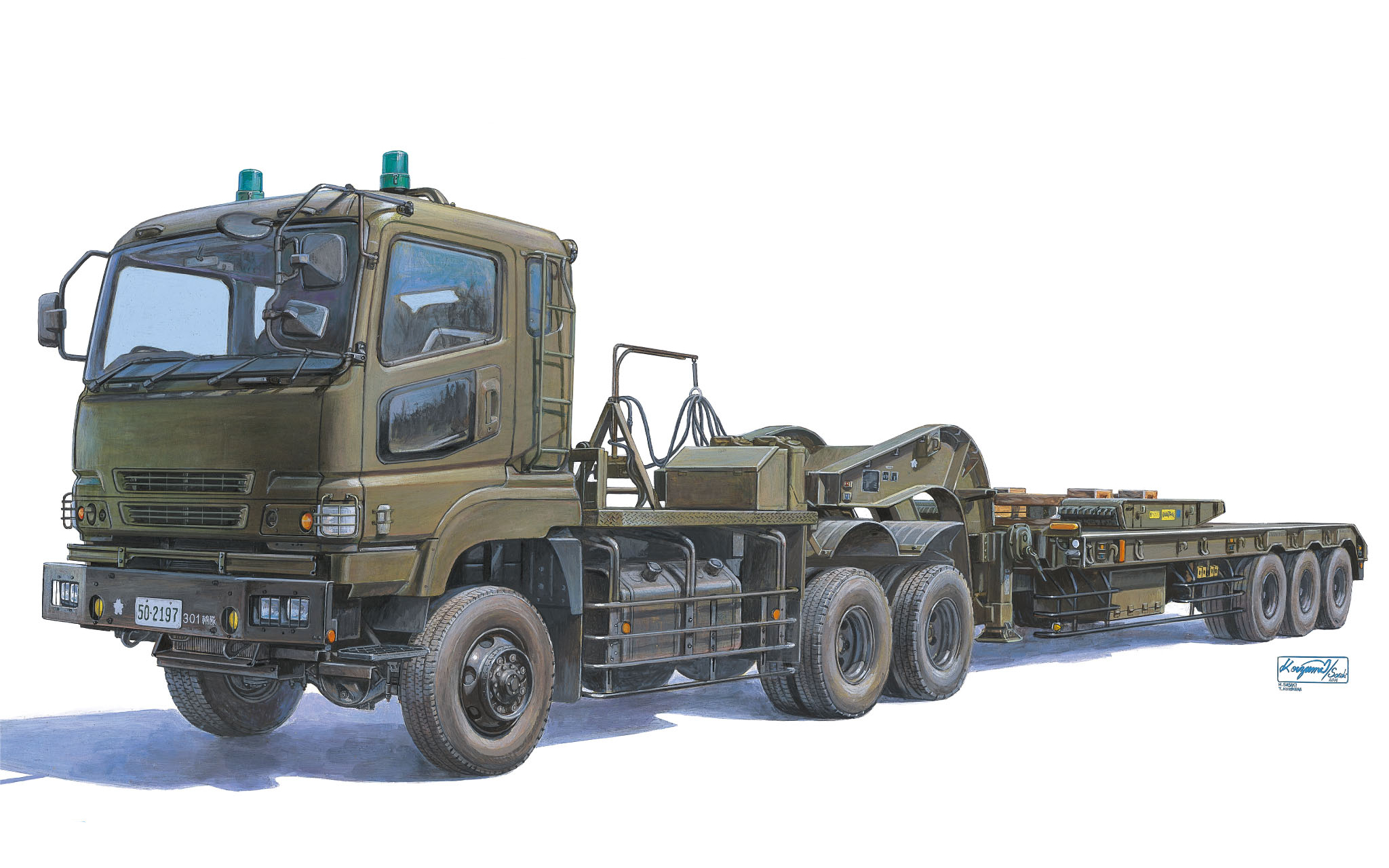 рисунок Type 73 Heavy Tank Transporter Truck