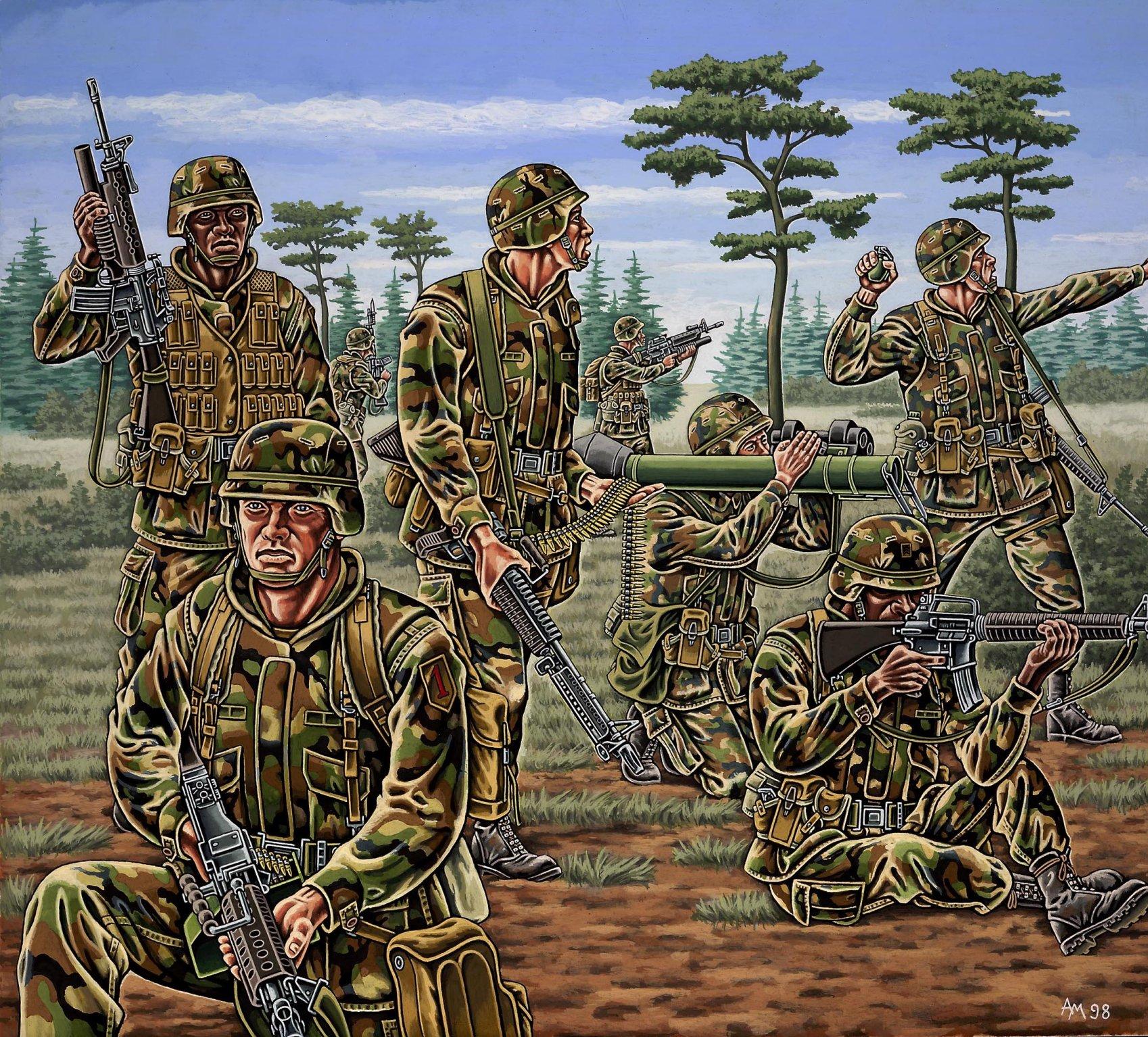 рисунок US infanterie, modern