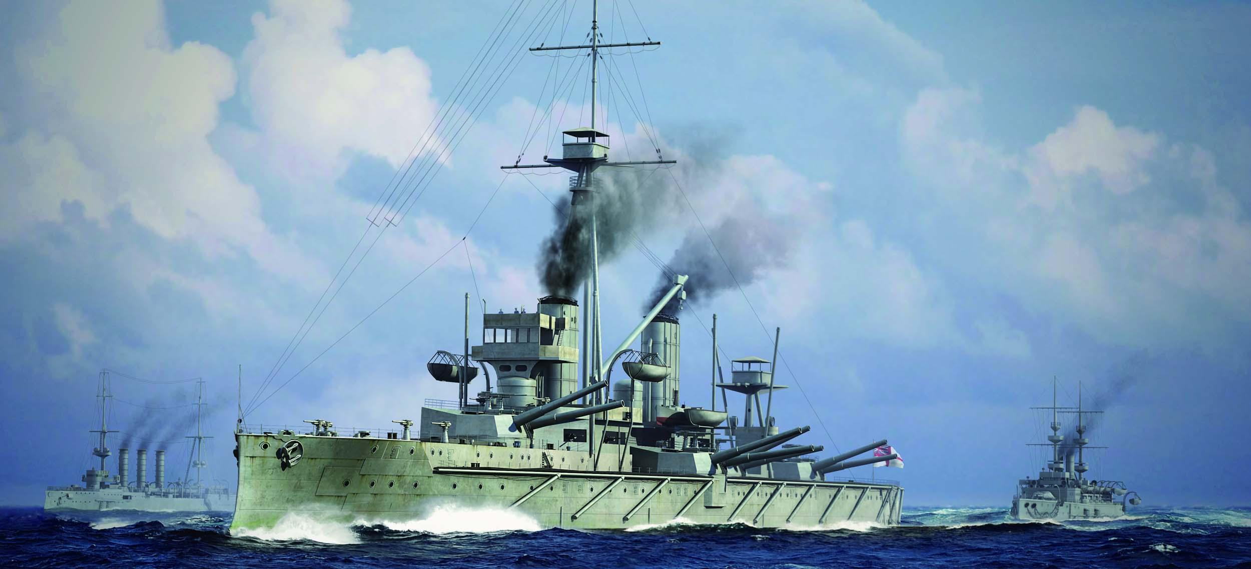 рисунок HMS Dreadnought 1915