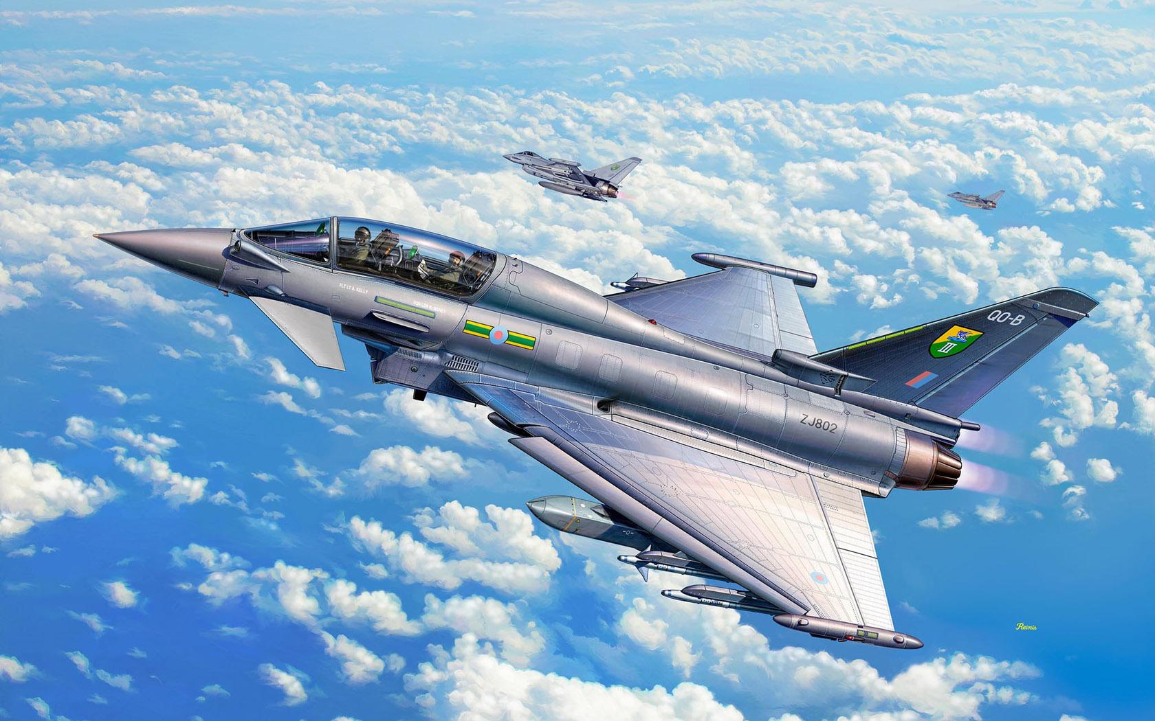 рисунок Eurofighter Typhoon Twin Seater