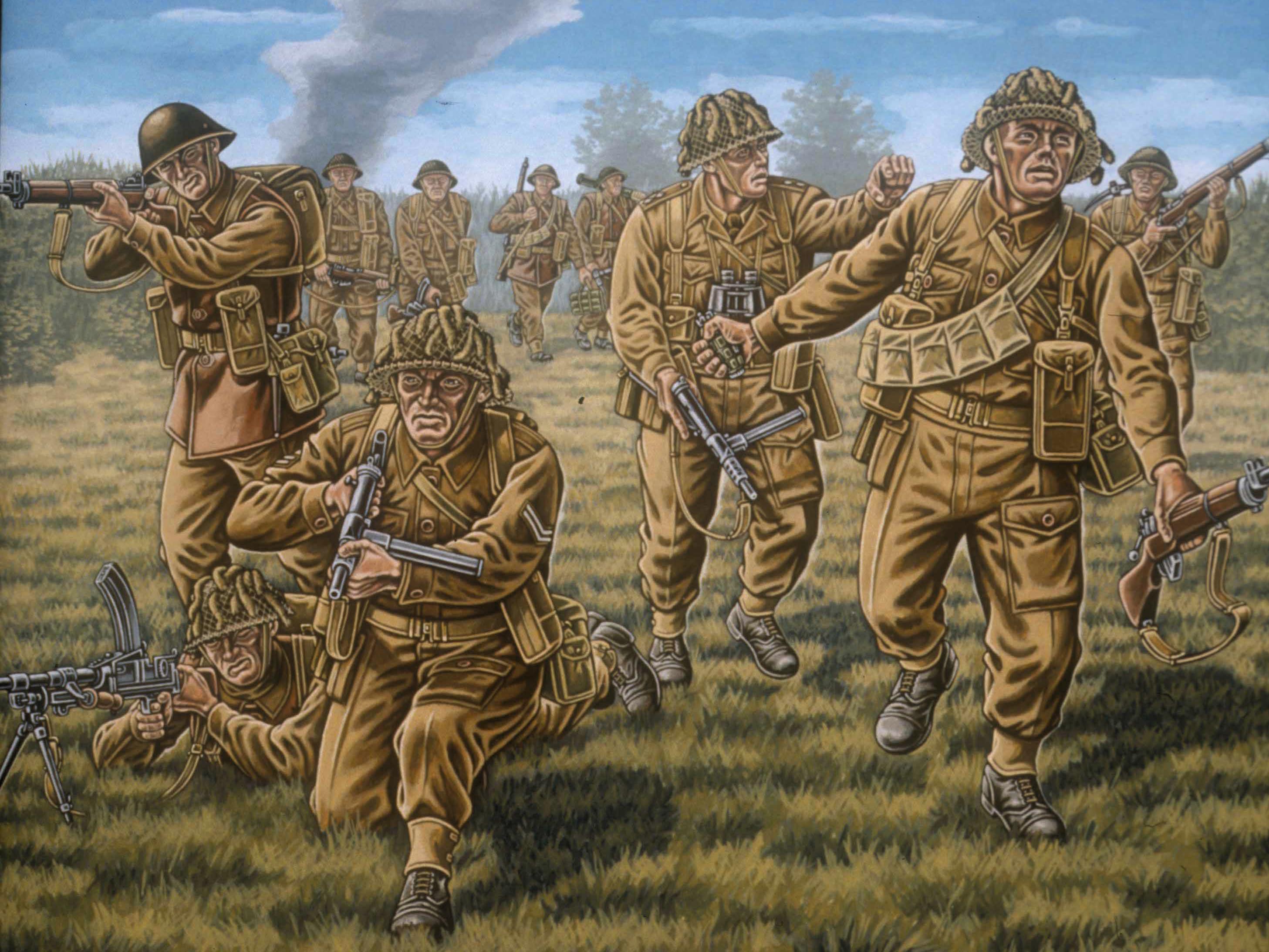 рисунок Britische Infanterie WWII
