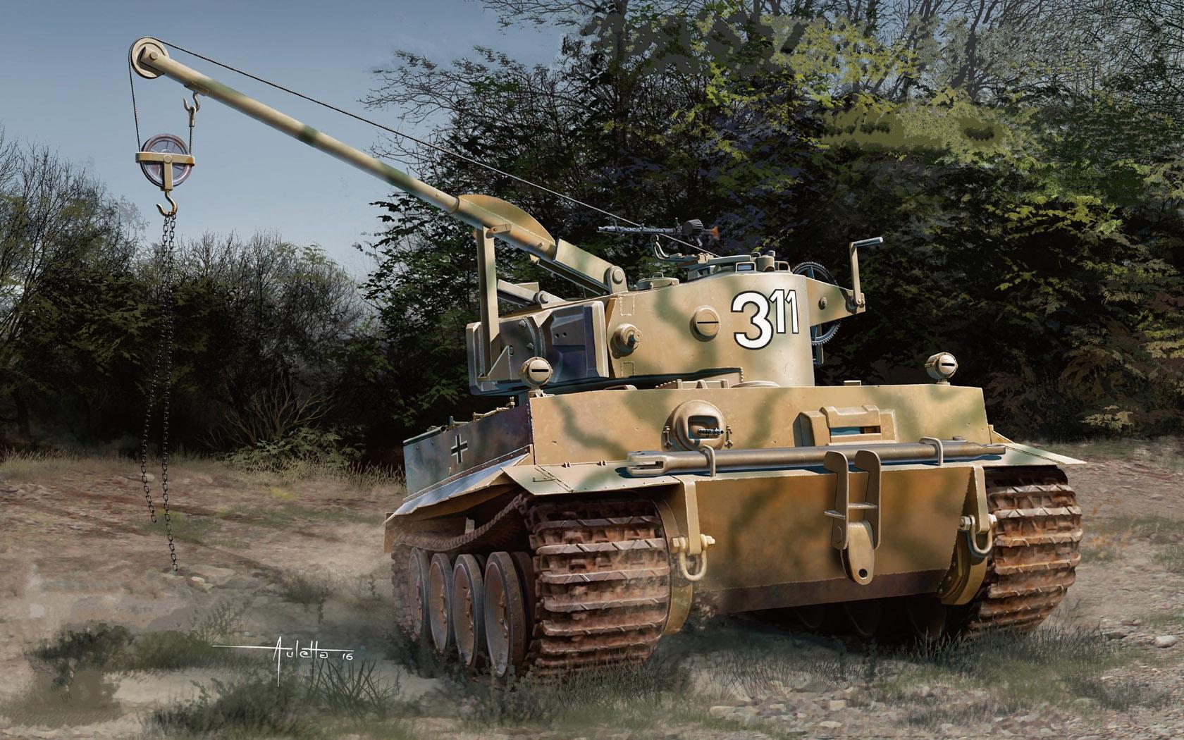 рисунок BERGEPANZER TIGER I (Sd.Kfz.185), Italy 1944