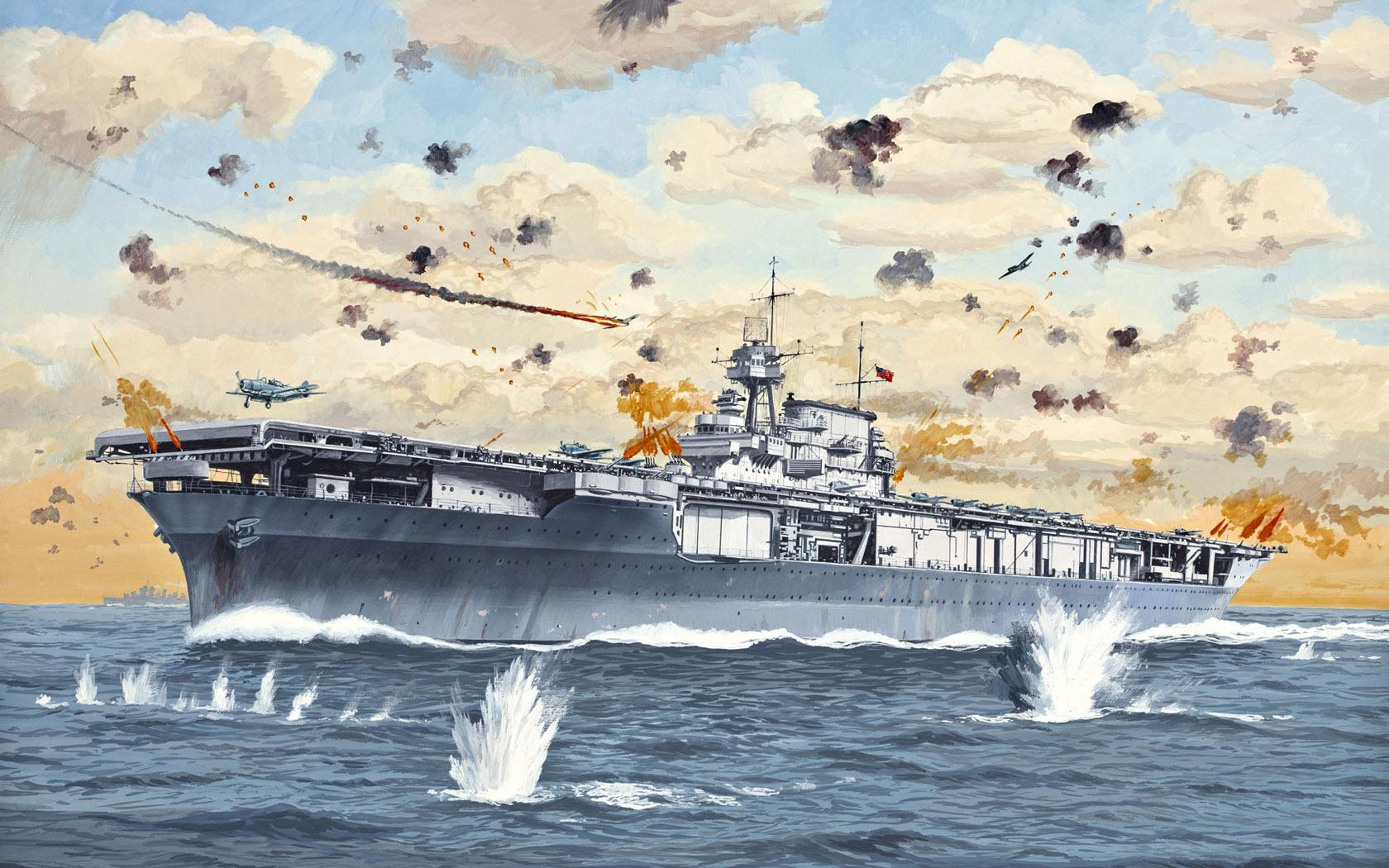 рисунок USS Yorktown