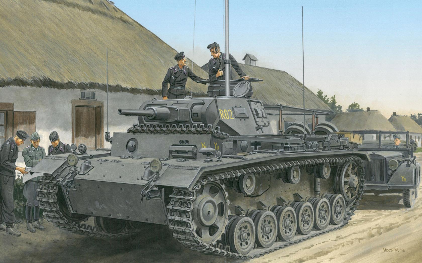 рисунок Panzerbefehlswagen III Ausf.H
