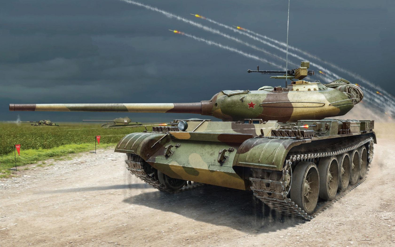 рисунок T-54-1 SOVIET MEDIUM TANK