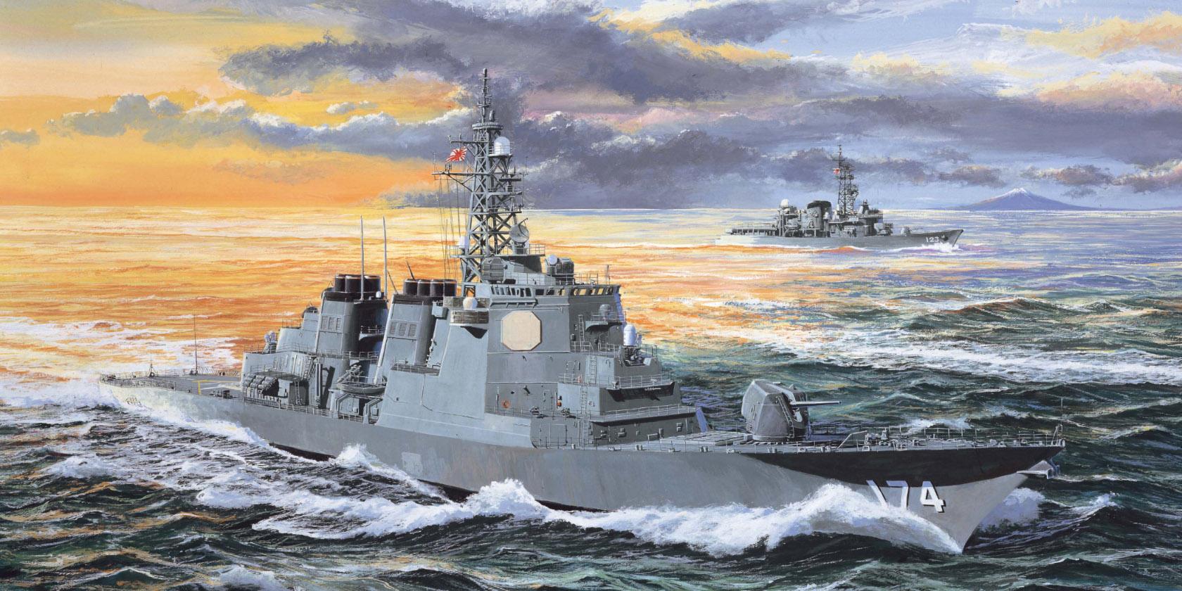 рисунок JMSDF DDG-174 Kirishima