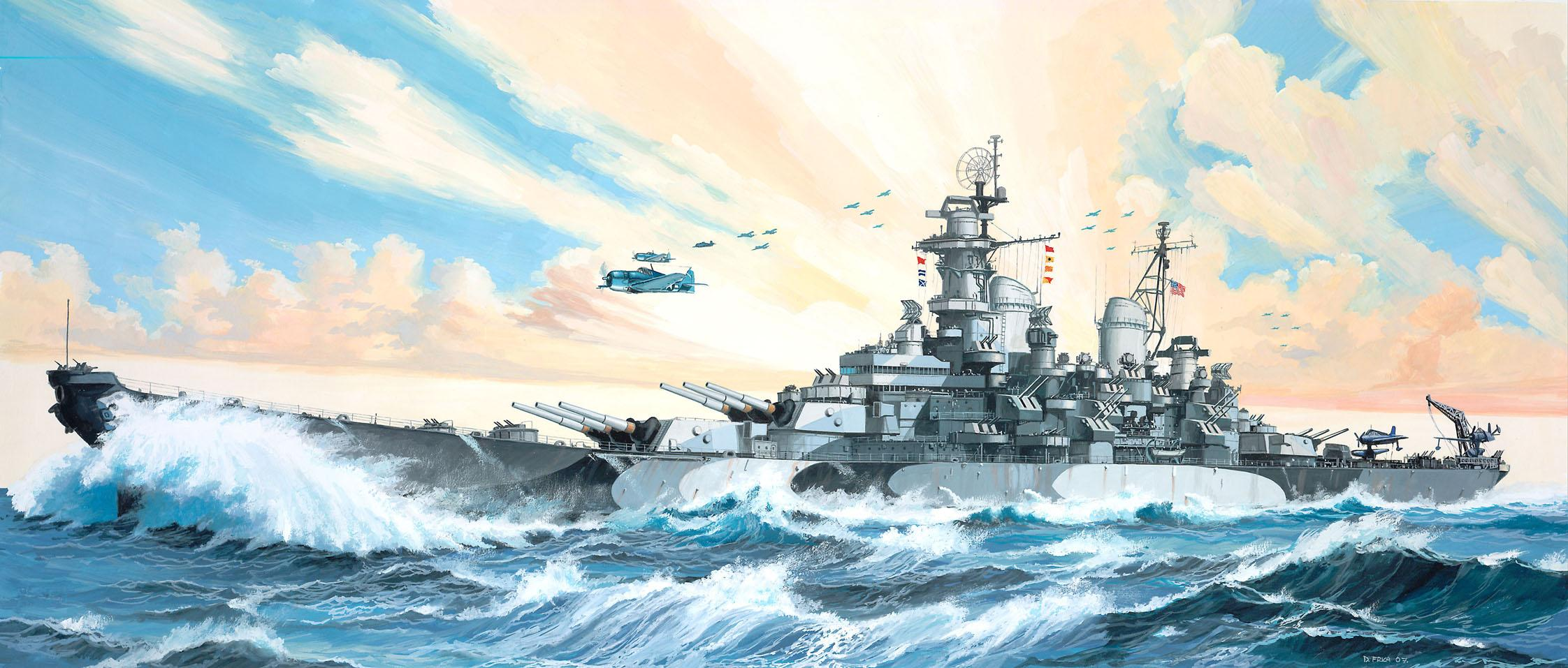 рисунок Battleship USS Missouri