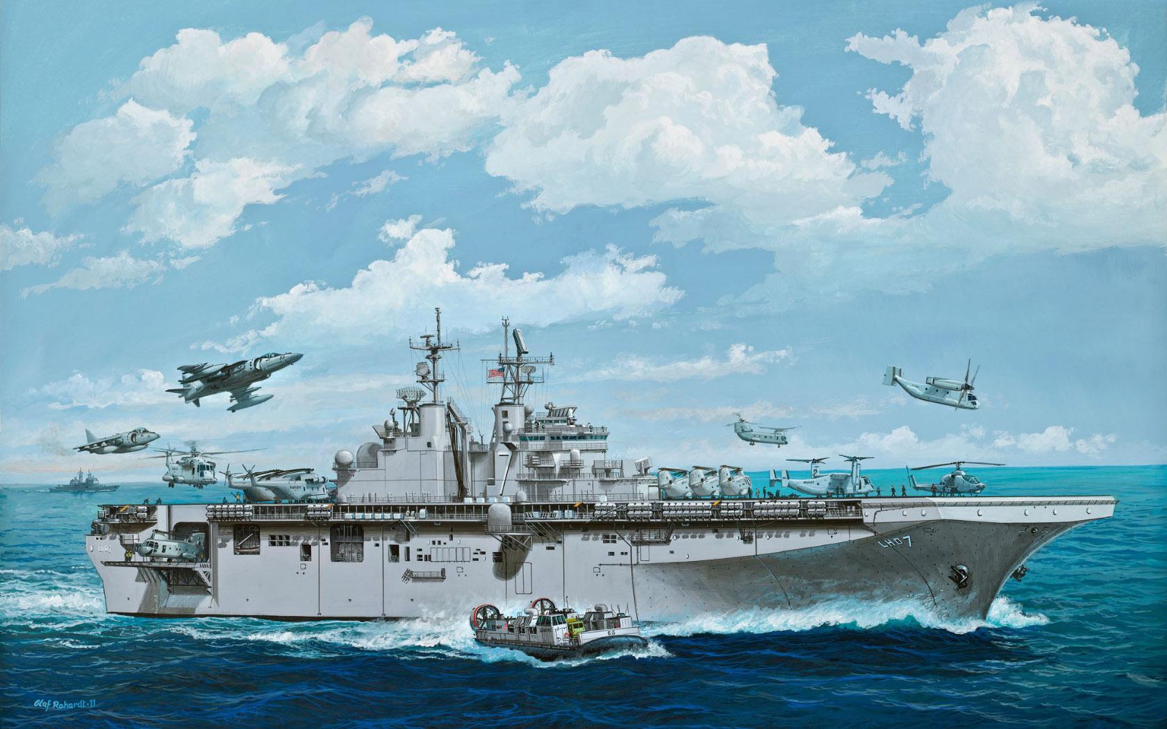 рисунок USS Iwo Jima (LHD-7)