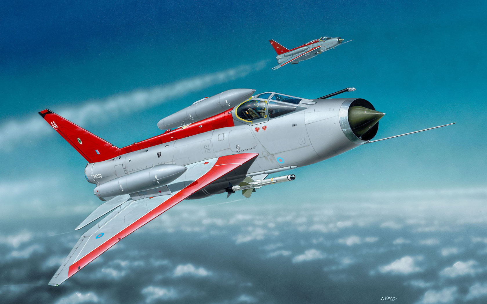 рисунок BAC Lightning F.6