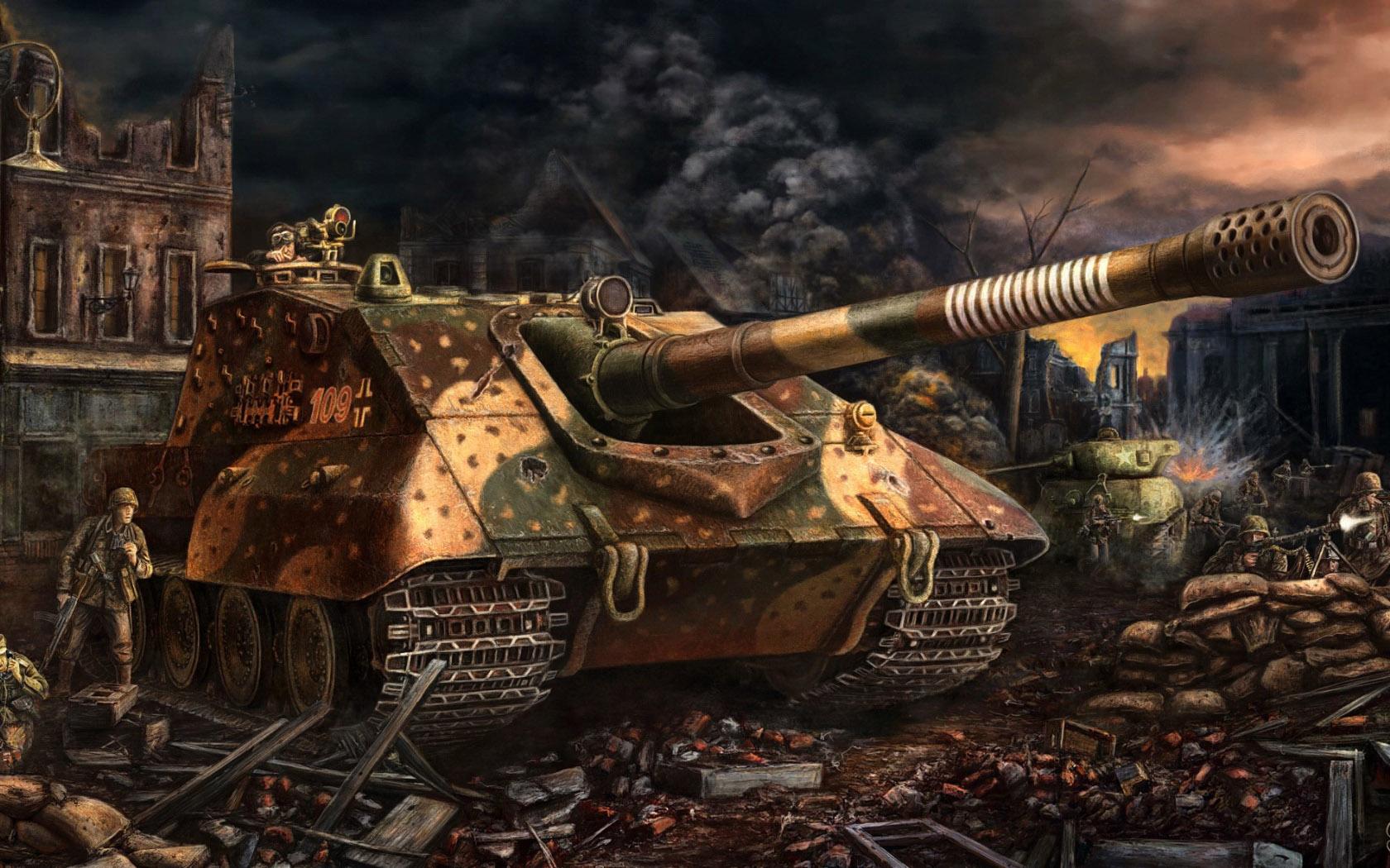 рисунок Jagdpanzer E-100