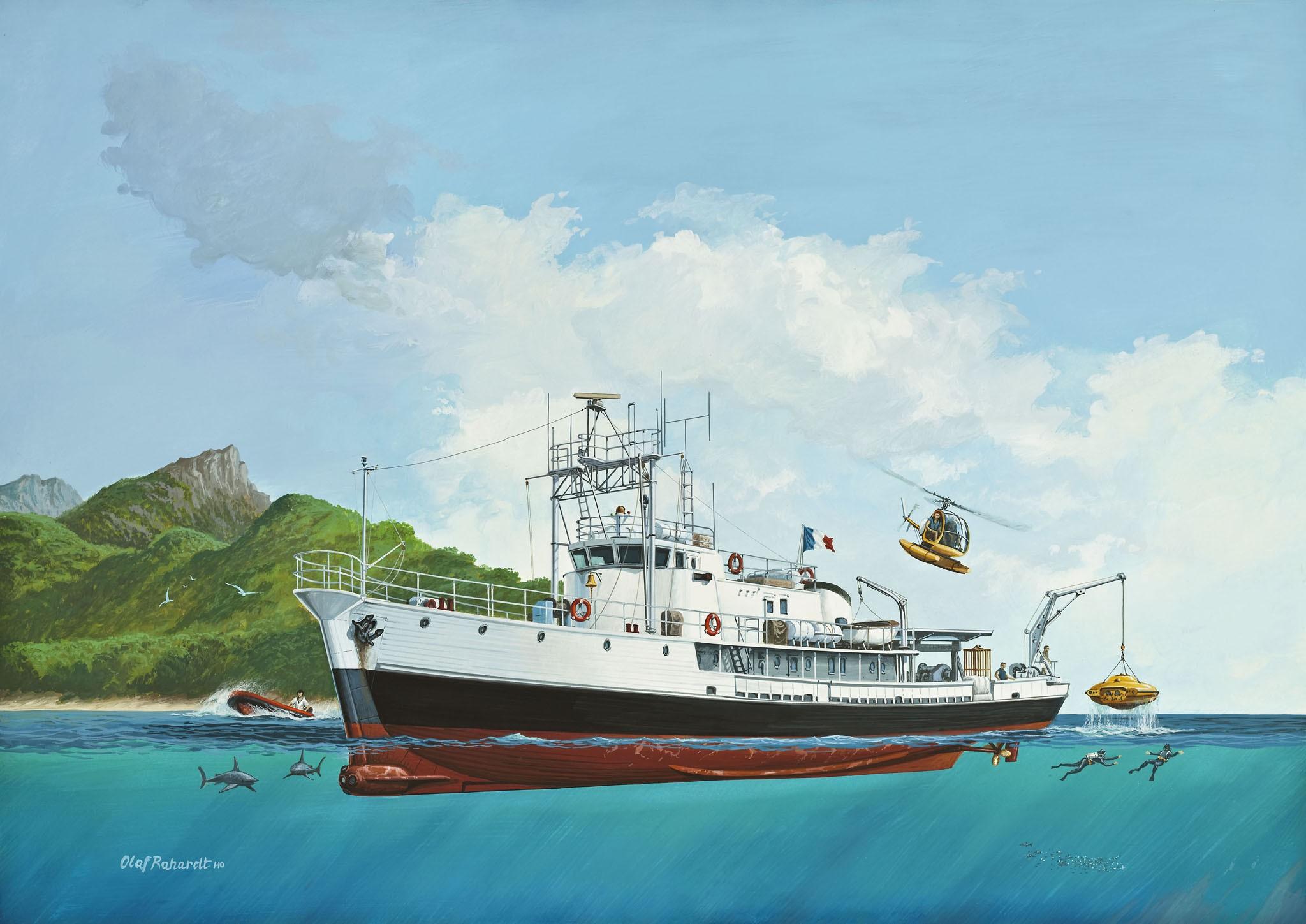 рисунок Ocean Exploration Vessel