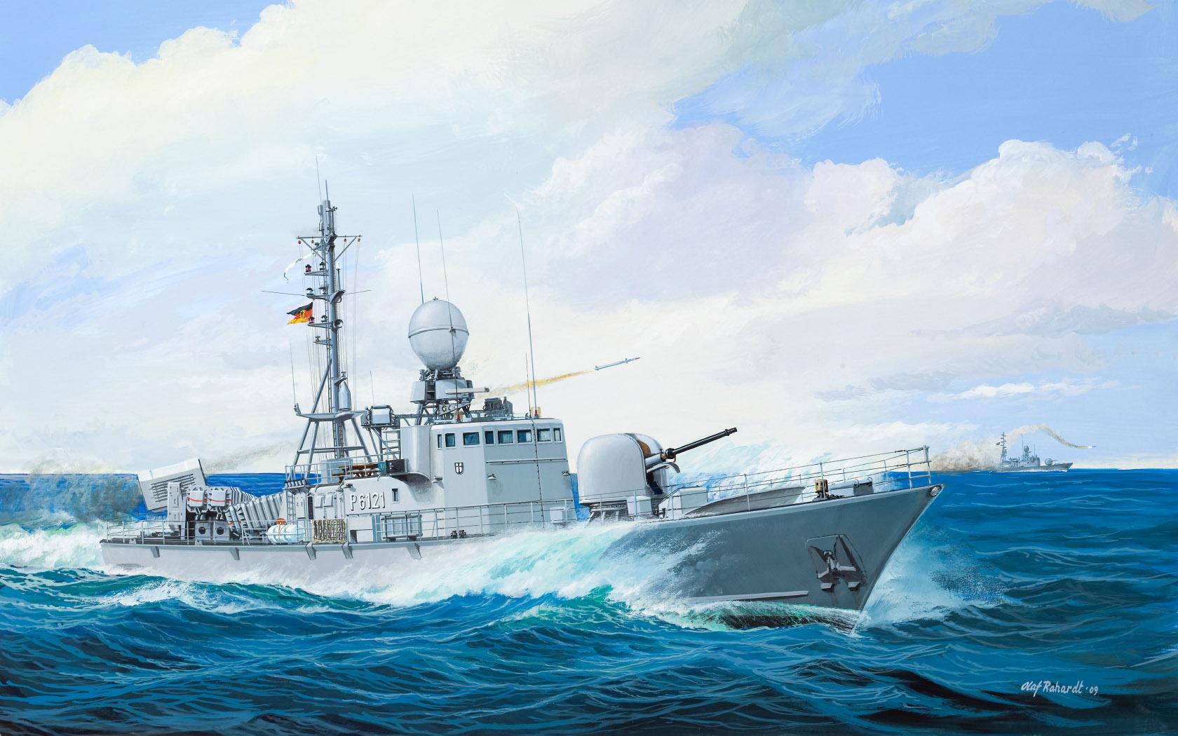 "рисунок Schnellboot Kl. 143A ""Gepard"""