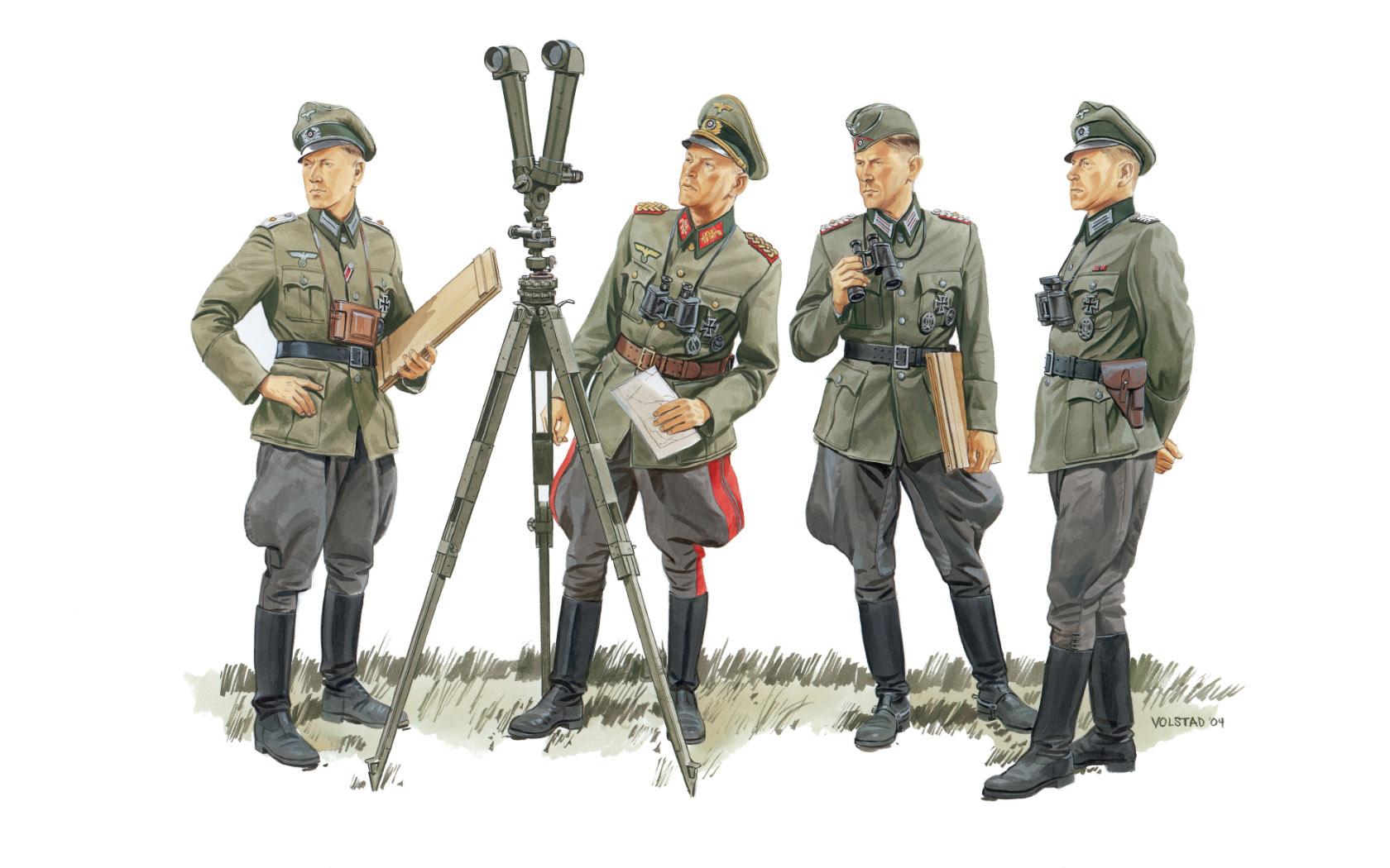 рисунок Немецкие командиры