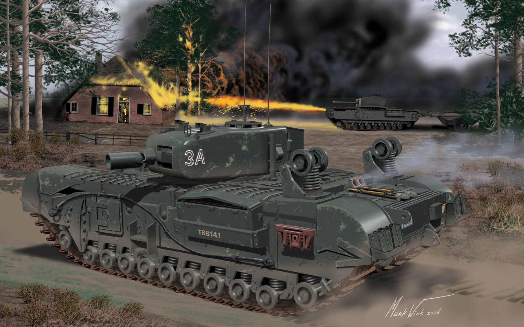 рисунок Churchill Mk.IV AVRE