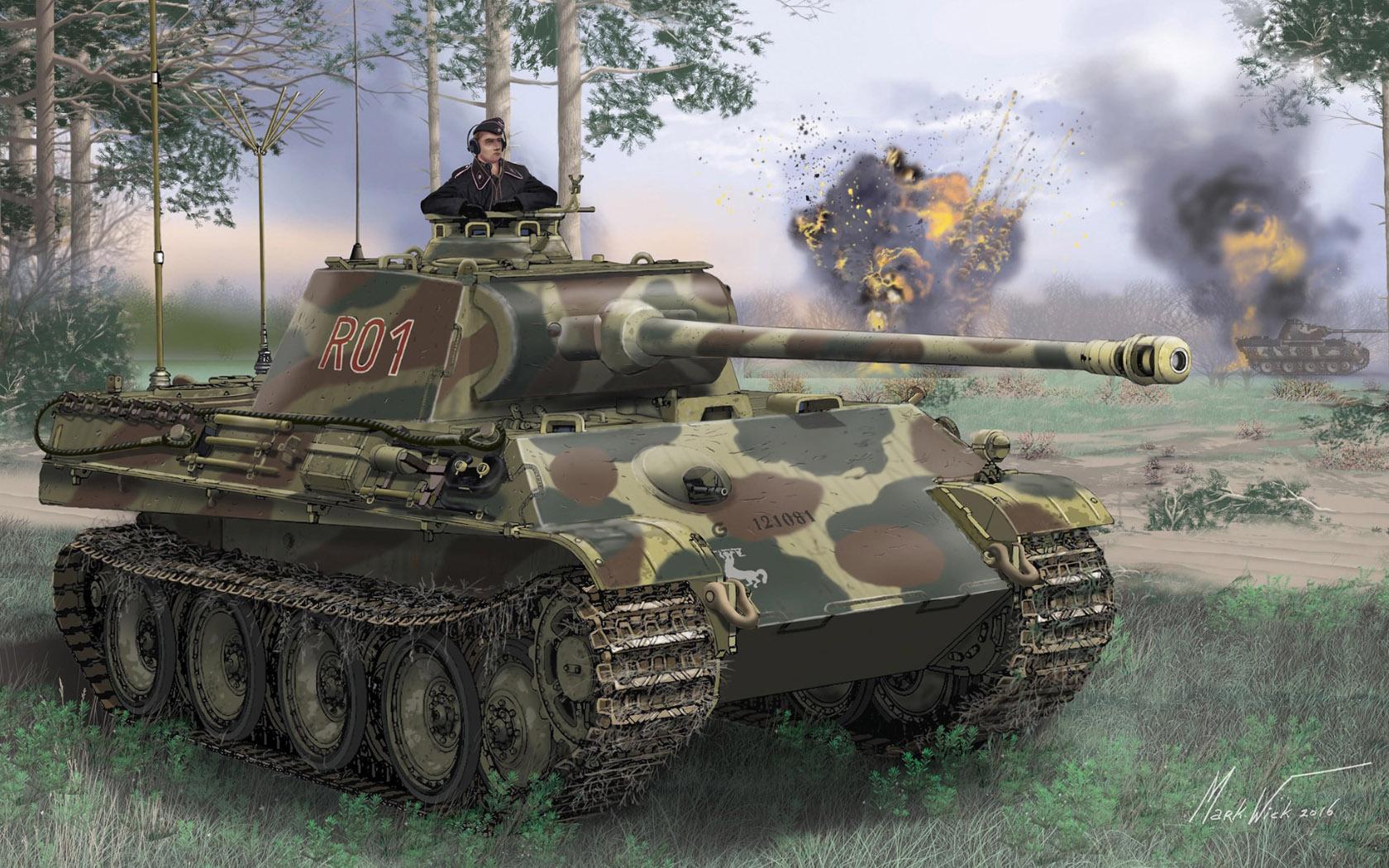 рисунок Panzerbefehlswagen V Panther Ausf.G