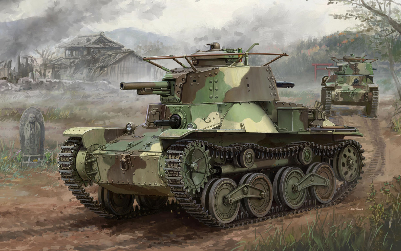 "рисунок IJA Type 4 Light Tank ""KE-NU"""