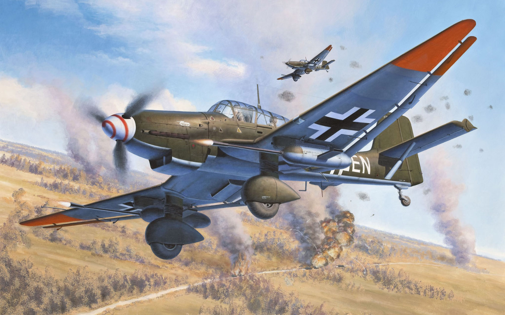 рисунок Junkers Ju 87 Tank Buster