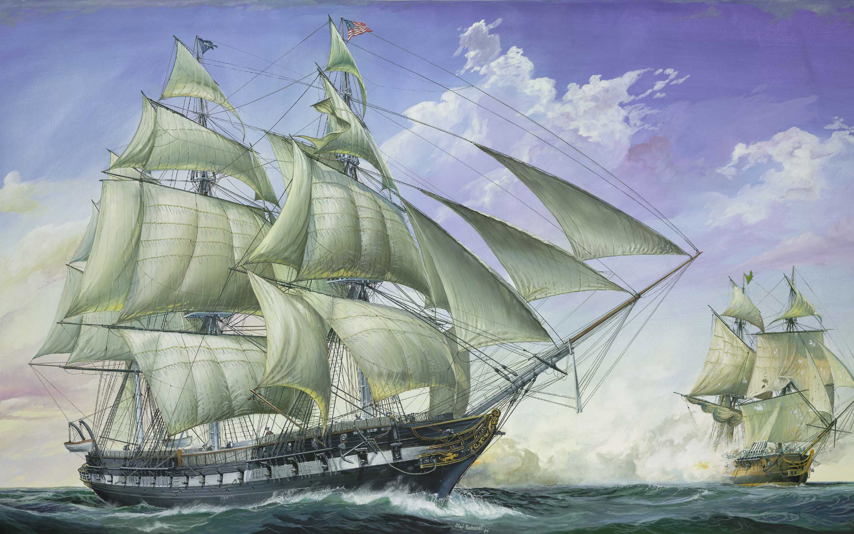 рисунок Frigate USS Constitution
