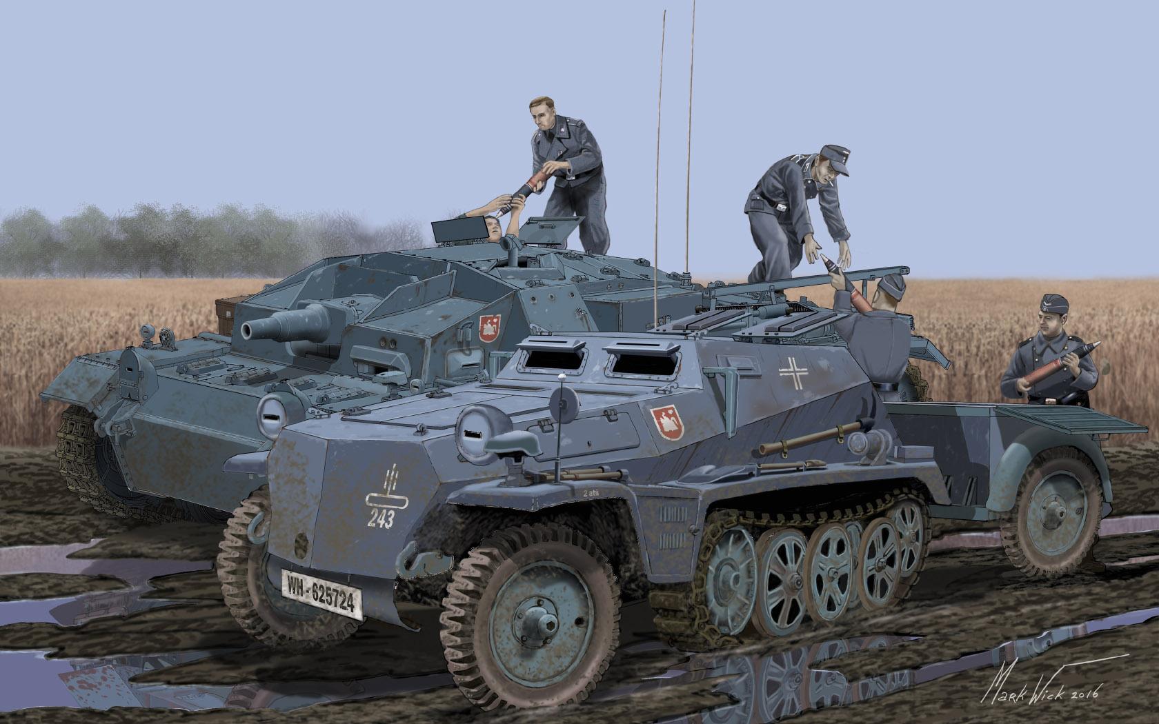 рисунок Погрузка боеприпасов в Stug III