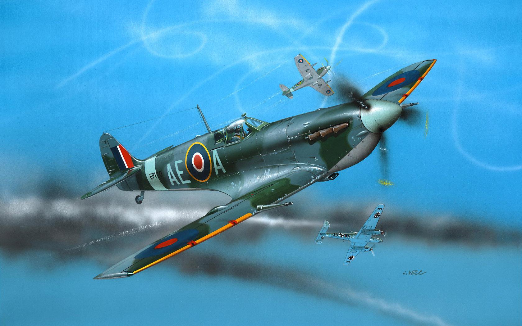 рисунок Spitfire V