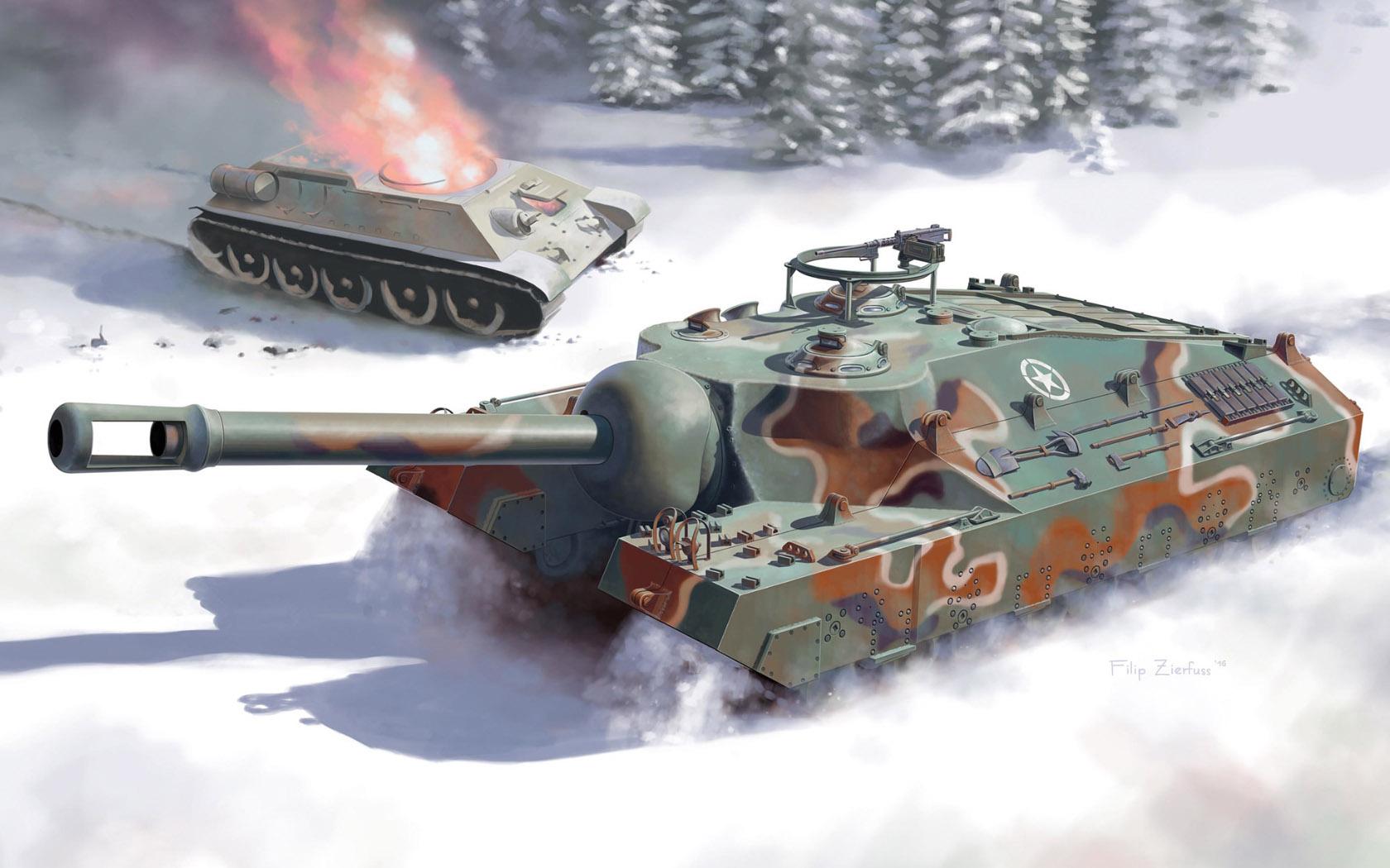рисунок T95 Super Heavy Tank