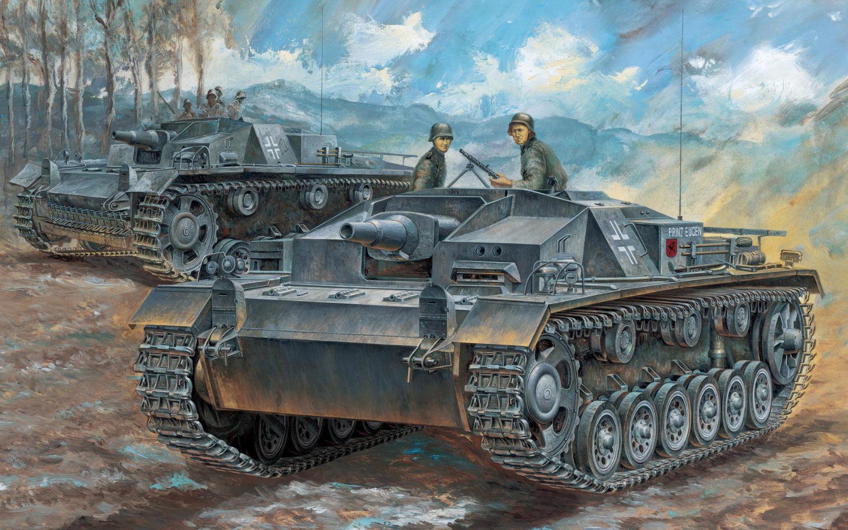 рисунок Sturmgeschütz III Ausf C/D