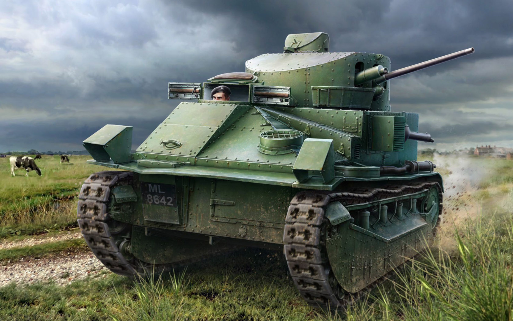 рисунок Vickers Medium Tank MK II