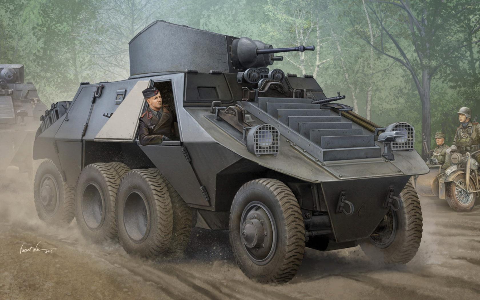 рисунок M35 Mittlerer Panzerwagen (ADGZ-D)