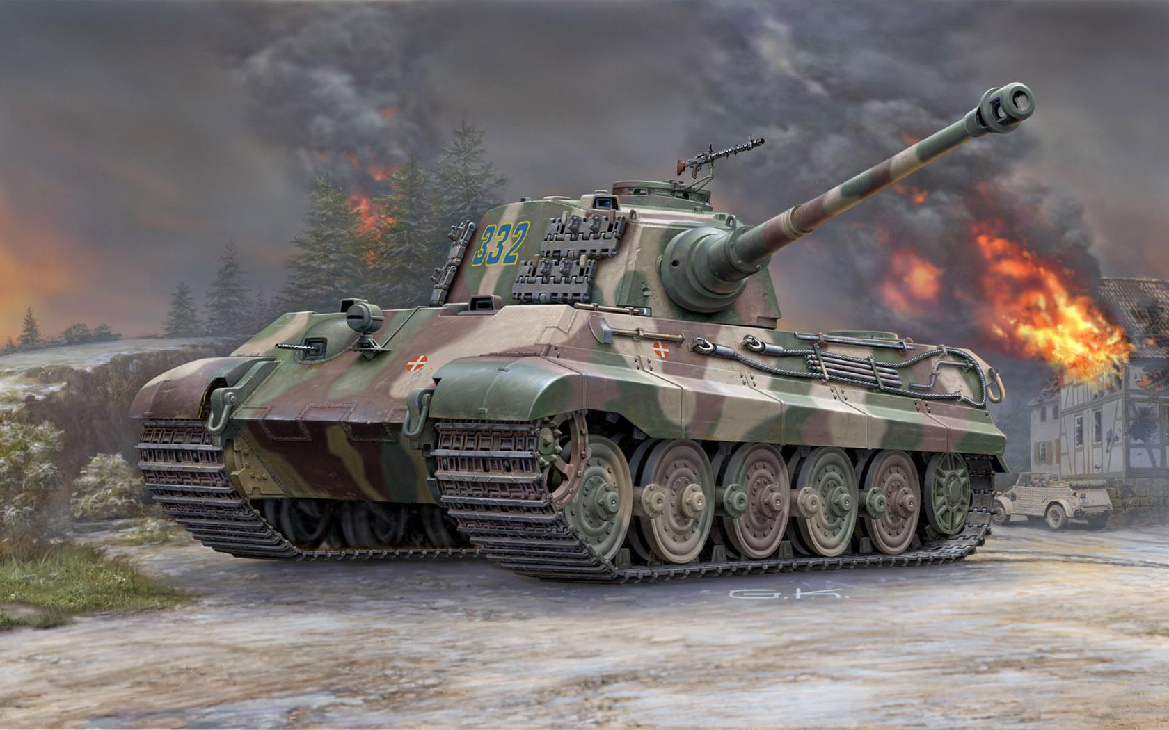 рисунок Tiger II Ausf.B (Henschel Turret)