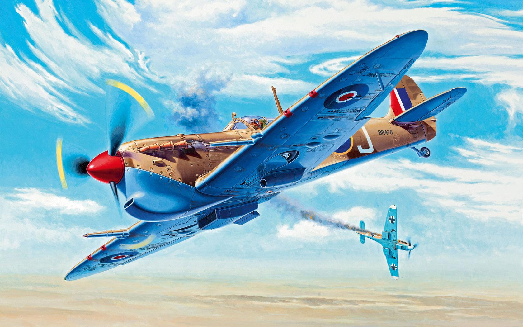 рисунок Spitfire Mk.Vc