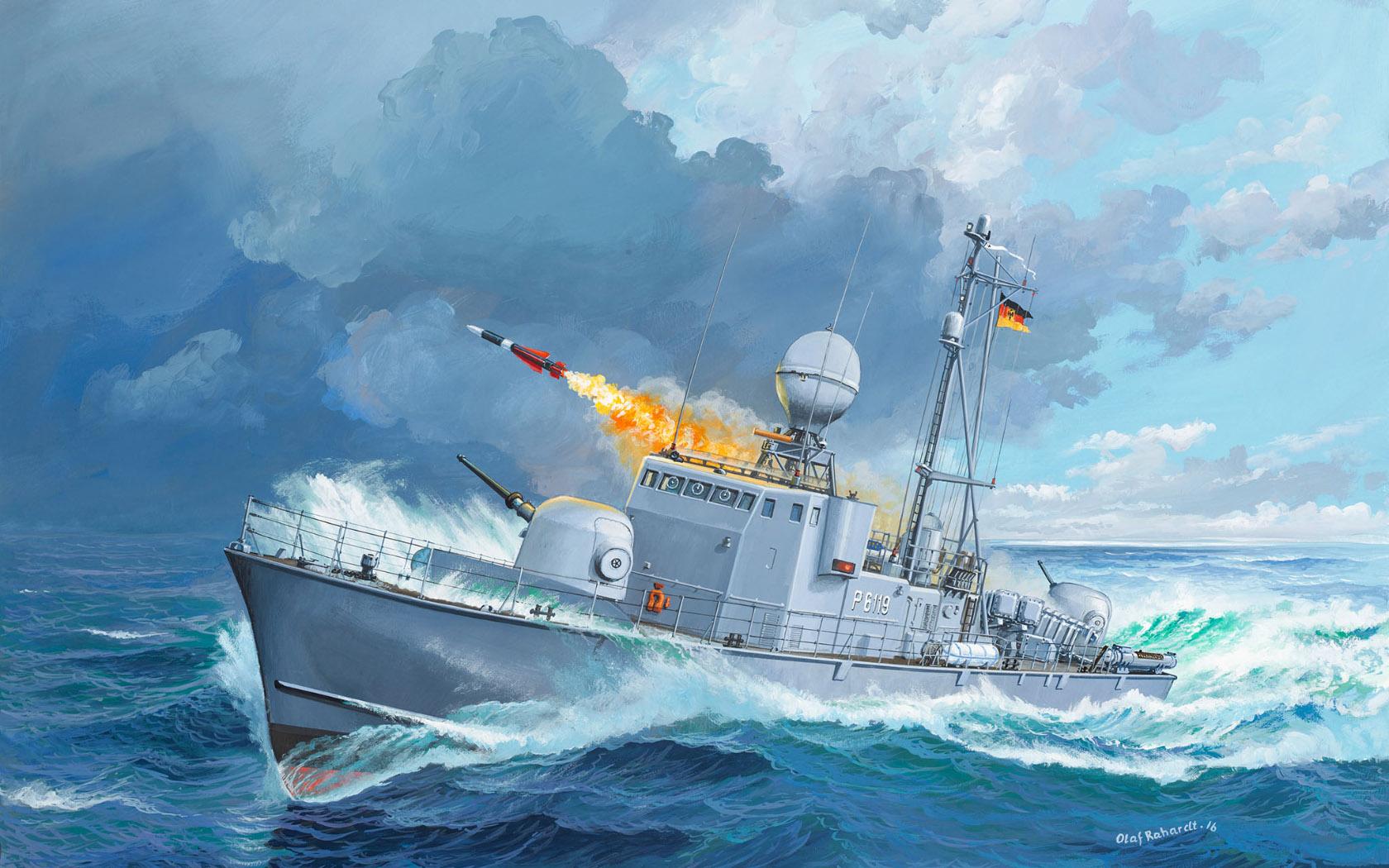 рисунок Fast Attack Craft Albatros Class